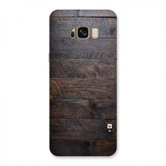 Dark Wood Printed Back Case for Galaxy S8 Plus