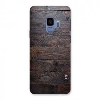 Dark Wood Printed Back Case for Galaxy S9
