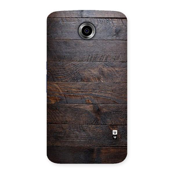 Dark Wood Printed Back Case for Nexsus 6