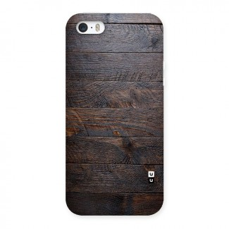 Dark Wood Printed Back Case for iPhone SE