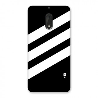 Diagonal Classic Stripes Back Case for Nokia 6