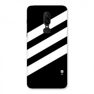 Diagonal Classic Stripes Back Case for OnePlus 6