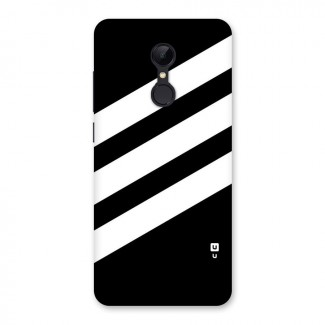 Diagonal Classic Stripes Back Case for Redmi 5