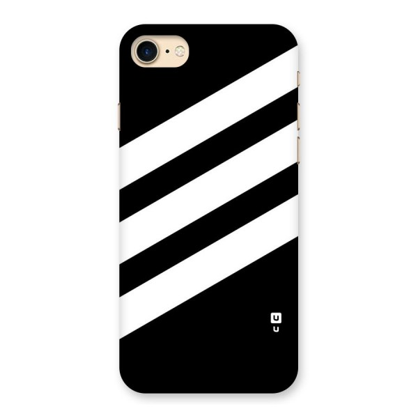 Diagonal Classic Stripes Back Case for iPhone 7