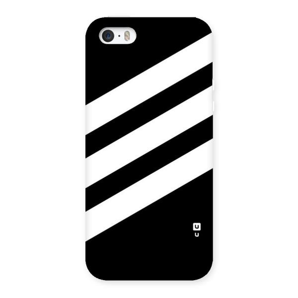 Diagonal Classic Stripes Back Case for iPhone SE