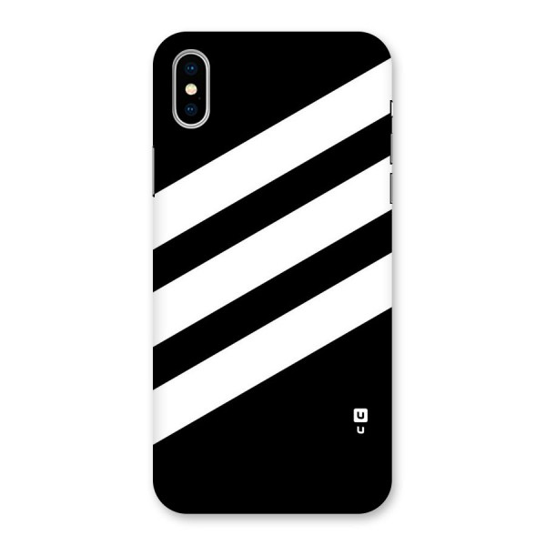 Diagonal Classic Stripes Back Case for iPhone X