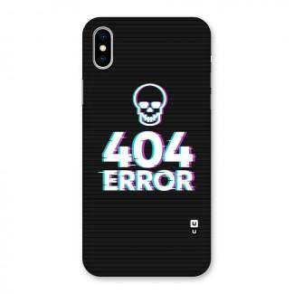 Error 404 Skull Back Case for iPhone X