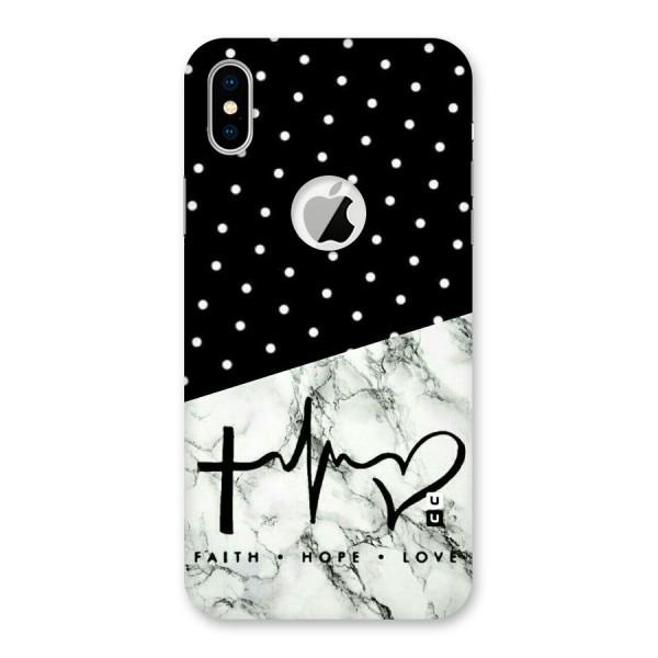 Faith Love Back Case for iPhone X Logo Cut