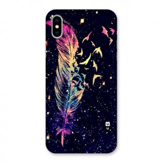 Feather Bird Fly Back Case for iPhone X