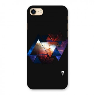 Fire Galaxy Triangles Back Case for iPhone 7