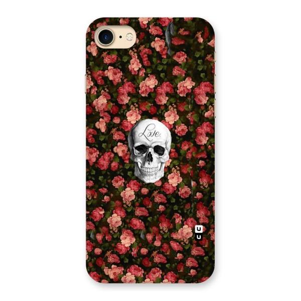 Floral Skull Love Back Case for iPhone 7
