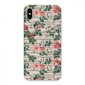Floral Wall Design Back Case for iPhone X