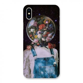 Flower Face Back Case for iPhone X