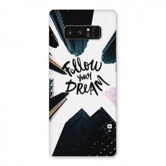 Follow Dream Back Case for Galaxy Note 8