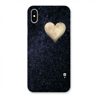 Galaxy Space Heart Back Case for iPhone X