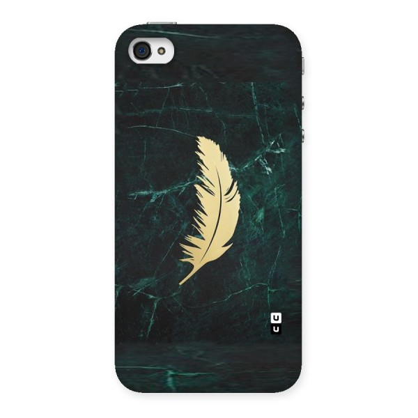 Golden Feather Back Case for iPhone 4 4s