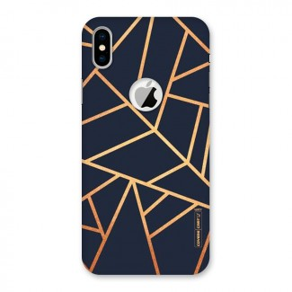 Golden Pattern Back Case for iPhone X Logo Cut