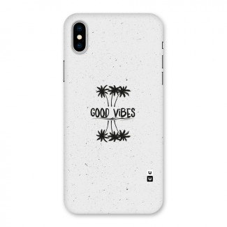 Good Vibes Rugged Back Case for iPhone X
