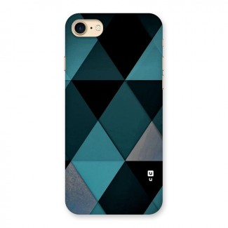 Green Black Shapes Back Case for iPhone 7