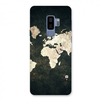 Green Gold Map Design Back Case for Galaxy S9 Plus