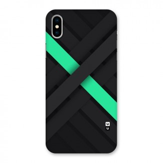 Green Stripe Diagonal Back Case for iPhone X