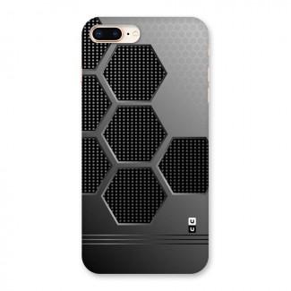 Grey Black Hexa Back Case for iPhone 8 Plus