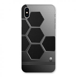 Grey Black Hexa Back Case for iPhone X