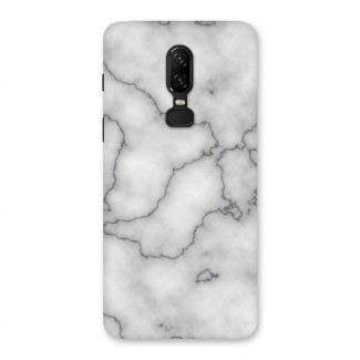 Grey Marble Back Case for OnePlus 6