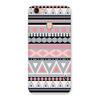 Grey Pink Pattern Back Case for Oppo F5