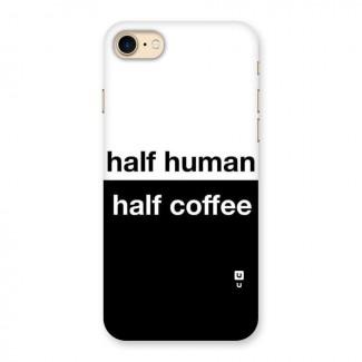Half Human Half Coffee Back Case for iPhone 7