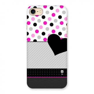 Heart Polka Stripes Back Case for iPhone 7