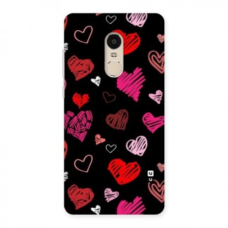 Hearts Art Pattern Back Case for Xiaomi Redmi Note 4