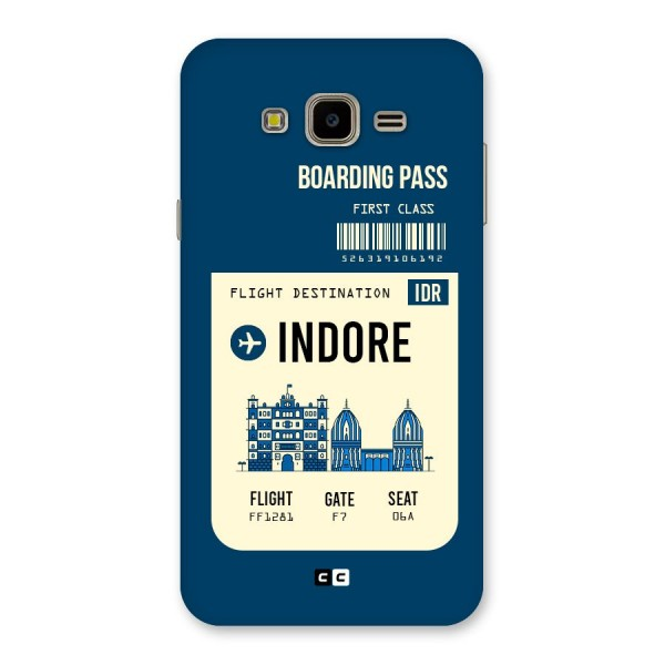 Indore Boarding Pass Back Case for Galaxy J7 Nxt