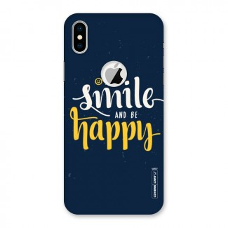 Just Smile Back Case for iPhone X Logo Cut