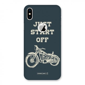 Just Start Off Back Case for iPhone X Logo Cut