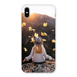 Leaf Rain Sunset Back Case for iPhone X