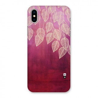Leafy Outline Back Case for iPhone X