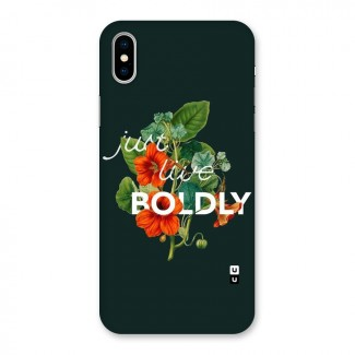 Live Boldly Back Case for iPhone X