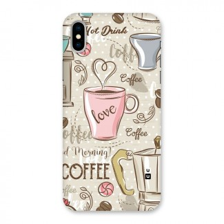 Love Coffee Design Back Case for iPhone X