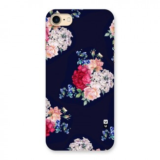 Magenta Peach Floral Back Case for iPhone 7