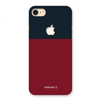 Maroon and Navy Blue Back Case for iPhone 7 Apple Cut