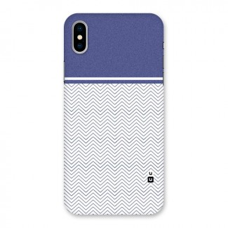 Melange Striped Pattern Back Case for iPhone X