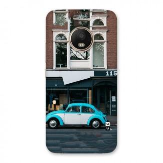 Mini Blue Car Back Case for Moto G5 Plus