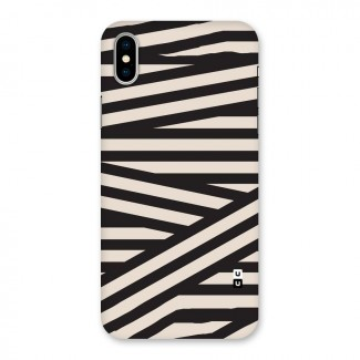 Monochrome Lines Back Case for iPhone X