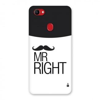 Mr. Right Moustache Back Case for Oppo F7