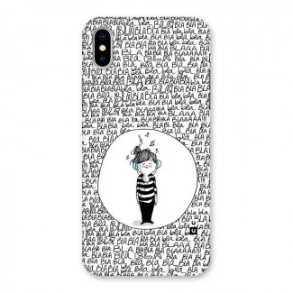 Music And Bla Bla Back Case for iPhone X
