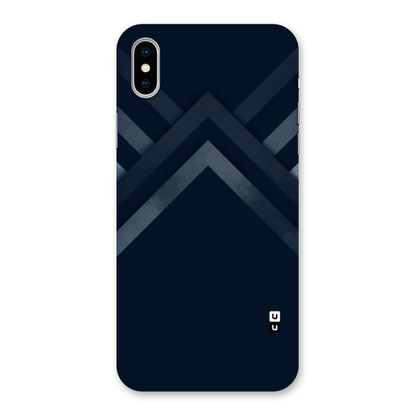 Navy Blue Arrow Back Case for iPhone X