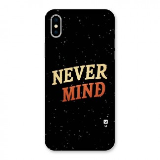 Never Mind Design Back Case for iPhone X