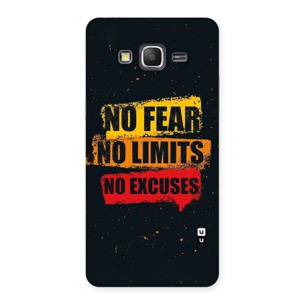 No Fear No Limits Back Case for Galaxy Grand Prime