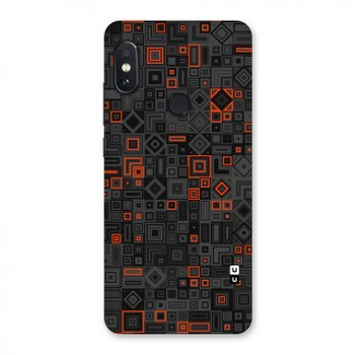 Orange Shapes Abstract Back Case for Redmi Note 5 Pro